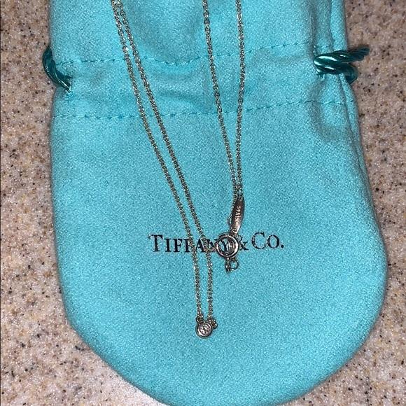 Tiffany & Co. Jewelry - Authentic Tiffany Necklace with Diamond